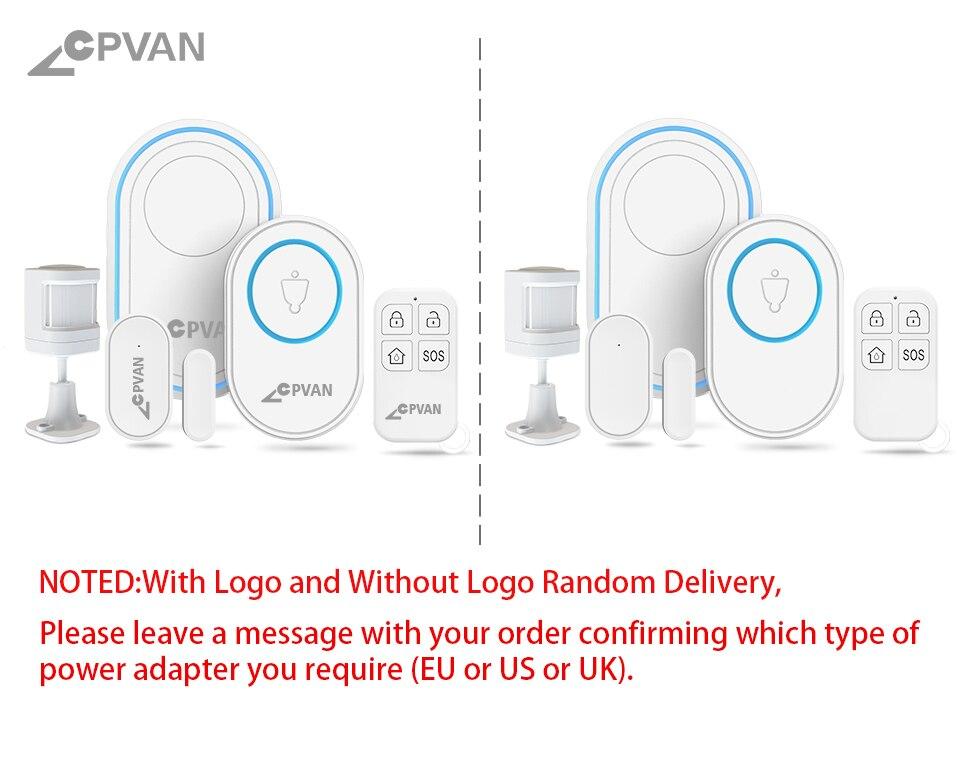 Hda1241f49a894ef2b6c2387625a41b68V - CPVAN Wireless Doorbell Alarm System Smart WIFI Doorbell Strobe Siren Tuya App 58 Sound Compatible Home Security Alarm System