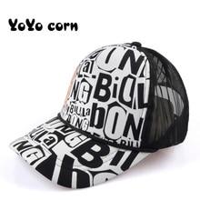 YOYOCORN Snapback Cap Fashion Summer Baseball Women Men Mesh Breathable Unisex Adjustable Sport Hats Dad Hat Bone