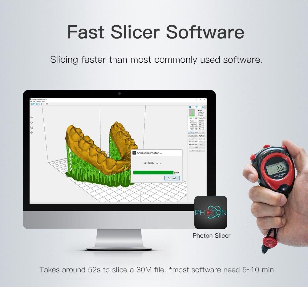 Image 3 - Anycúbico fóton sla impressora 3d mais tamanho 2 k tela sensível ao toque fatia rápida lcd uv resina impressora stampante 3d impressão 3dImpressoras 3D   -