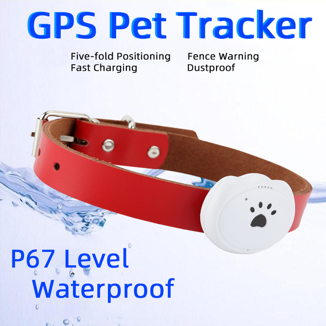 Smart Waterproof Pet GPS Tracking Tracker Collar For Dog Cat AGPS LBS WIFI Positioning Geo-Fence Track Device Finder Equipment