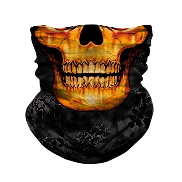 Motorcycle Face Mask Neck Headbands Biker Magic Headscarf Tube Neck Scarves Halloween Scary Mask Festival Skull Masks Skeleton 1