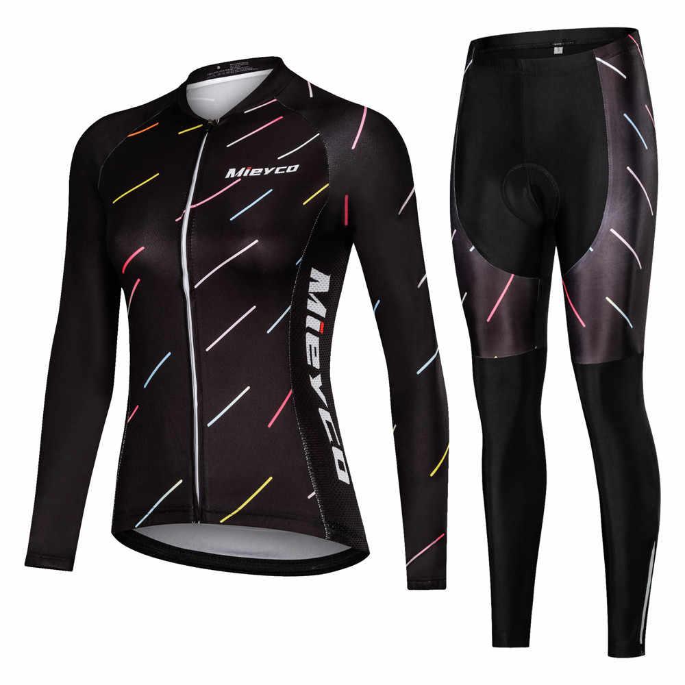 Ubrania do jazdy rowerem damskie zestawy rowerowe wiosna odzież sportowa z długim rękawem strój Mtb zestaw koszulek Pro Team Mountain odzież rowerowa kobieta