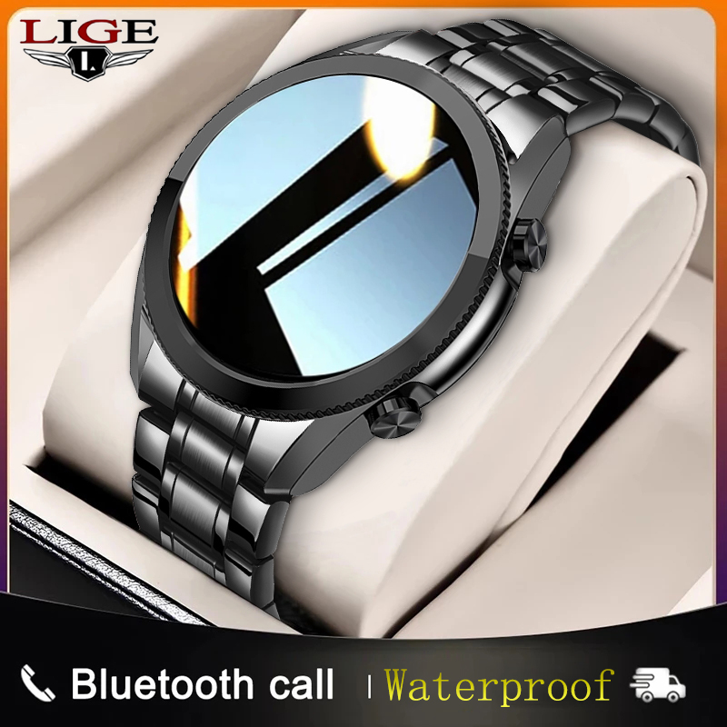 LIGE 2021 New Smart Watch Men Bluetooth Call IP67 Waterproof Full Touch Screen Smartwatch For Android IOS Sports Fitness Tracker