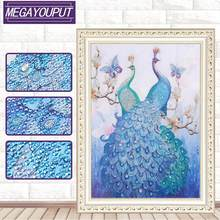 Kids Adult Embroidery Diamond Painting 5D DIY Special Shaped Peacock Cross Stitch Craft Kit Mosaic Picture Wall Painting Decor(China)