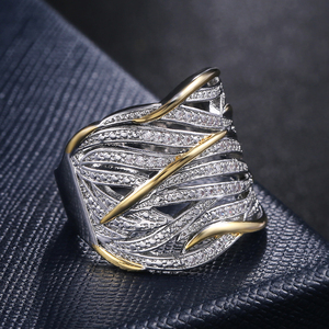 Image 3 - Huitan Unique Shape Women Ring Bridal Wedding Ceremony Rings High Quality Special interest Versatile Accessories Trendy Rings