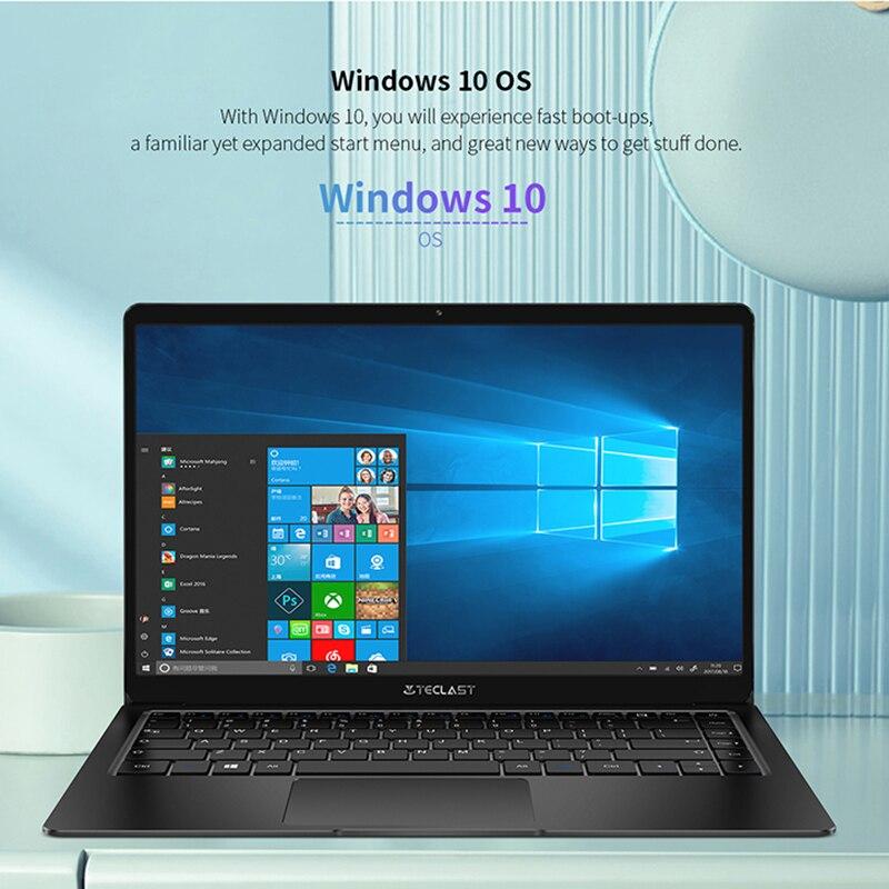 Teclast F6S 13.3'' 1.28 Kg 1920x1080 FHD IPS Light Laptop Intel Apollo Lake Windows 10 Notebook 8GB LPDDR4 128GB SSD-5