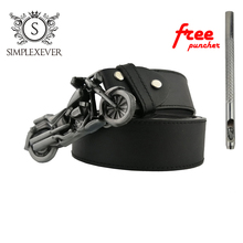 Motorcycle Silver Metal Belt Buckle Mens Head with Drop Shipping Buckles