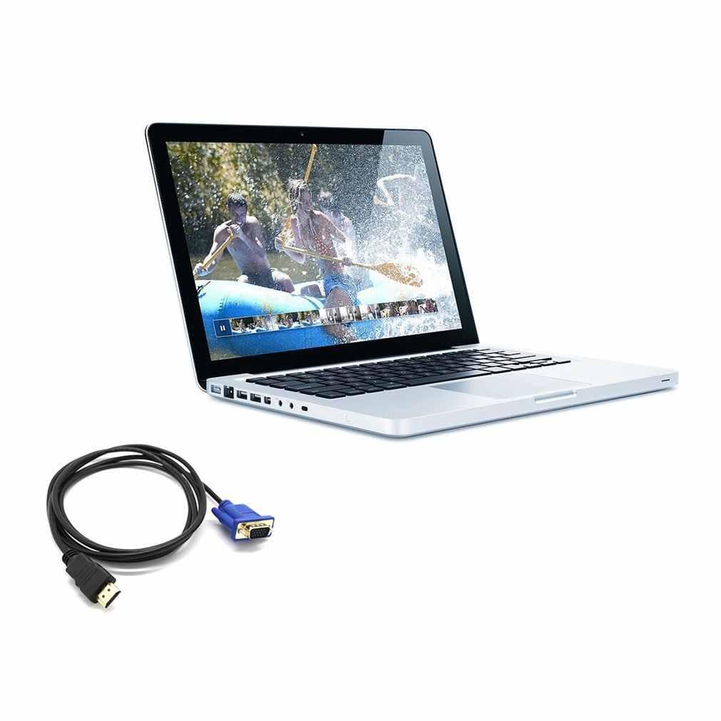 1 м HDMI к VGA D-SUB Мужской видео адаптер кабель для HDTV PC монитор компьютера