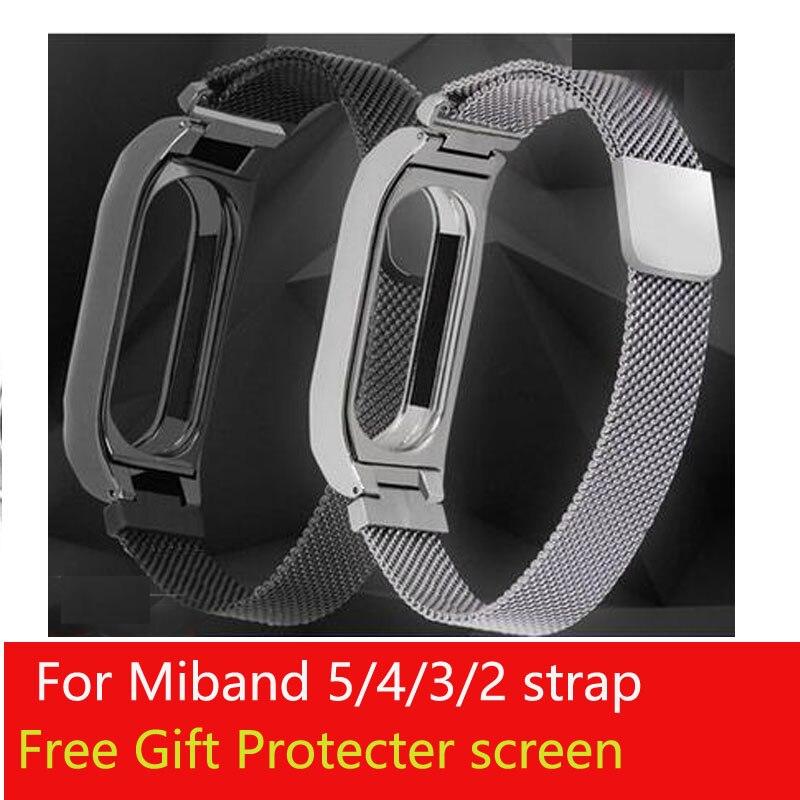 Ремешок для Xiaomi MiBand 5 металлический ремешок на запястье Миланский ремень для Miband 2 3 4 браслет на запястье strap for milanese strapstrap strap   АлиЭкспресс