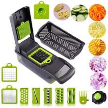Grande râpe multifonctionnelle, trancheuse de fruits et légumes, éplucheuse, panier de vidange, hachoir de cuisine avec grand récipient