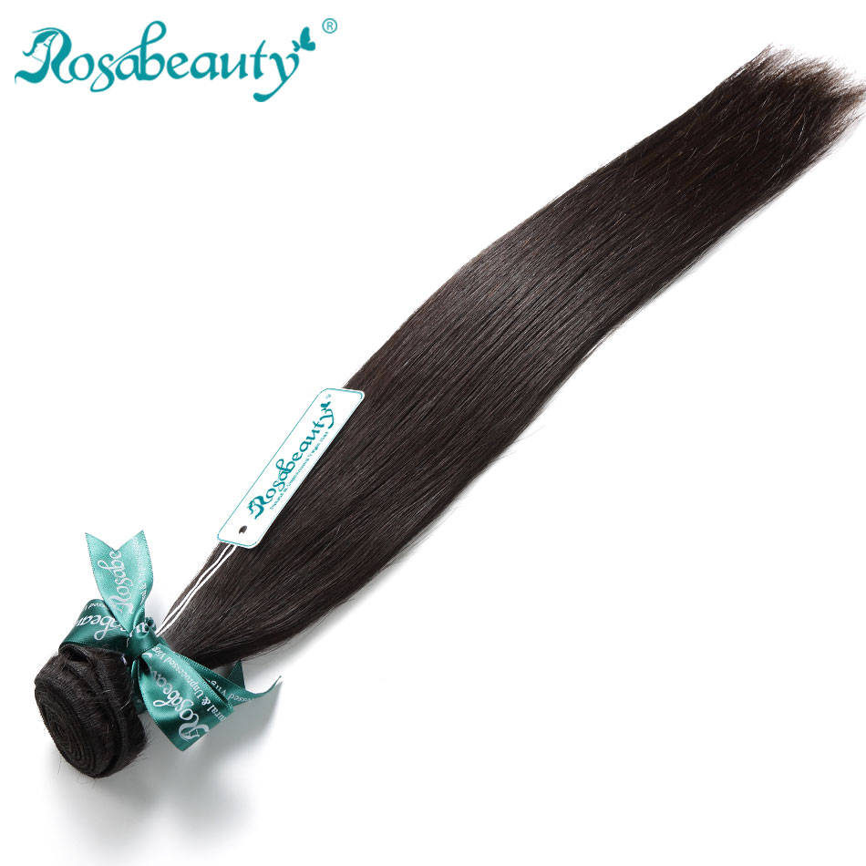 Rosabeauty Natural Color Brazilian Hair Weave Bundles Straight Unprocessed Human Hair Products 6-30 28 Inch Raw Virgin Hair