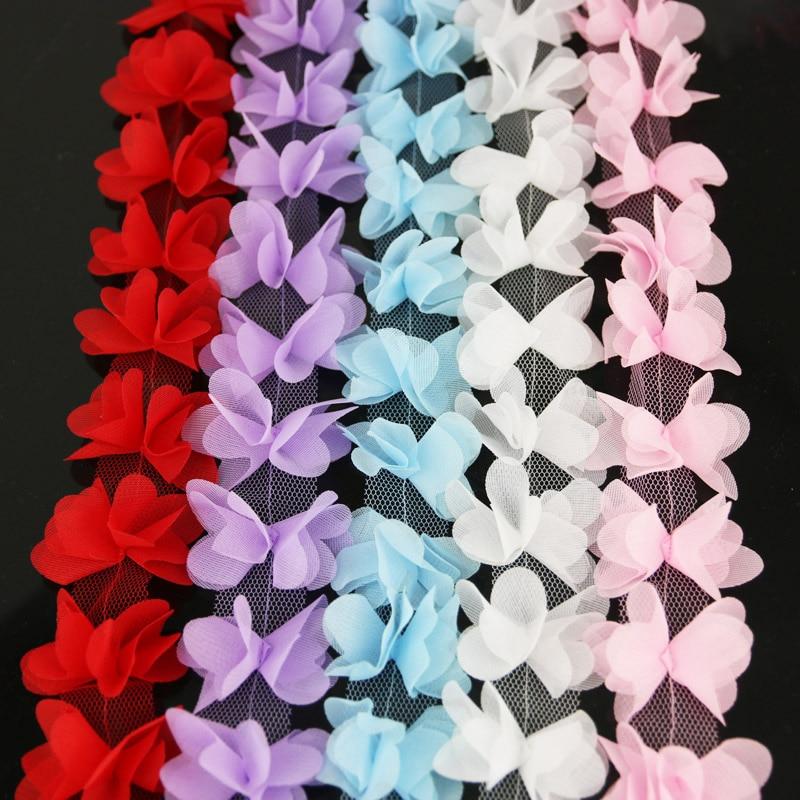 (140 шт./лот) шифоновая кружевная ткань с бабочками, тонкая лента для украшения, Подарочные ленты для любви, ширина 50 мм
