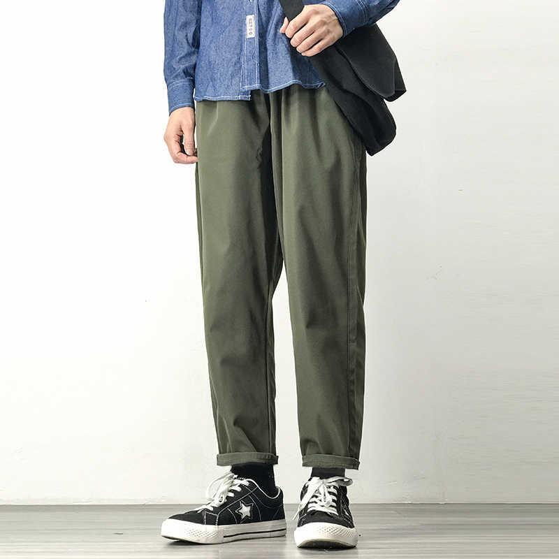 남자 조깅스 하렘 바지 남자 블랙 코튼 편안한 바지 여름 캐주얼 Streetwear 느슨한 바지 일본 유행 스웨트 팬츠