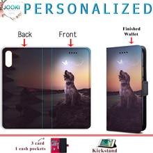 Anpassen Fall Für iPhone 11 XR XS MAX 5S 6s 7 8 Plus PU Leder Flip Brieftasche Foto halter Abdeckung Für Samsung S8 S9 S10 Für Huawei