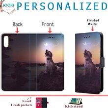Personnaliser étui pour iphone 11 XR XS MAX 5S 6s 7 8 Plus Étui En Cuir PU Portefeuille porte photo Pour Samsung S8 S9 S10 Pour Huawei