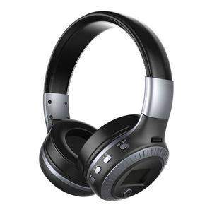 B19 наушники с ЖК-дисплеем беспроводные музыкальные наушники стерео Bluetooth 5,0 TF микрофон fm-радио гарнитура