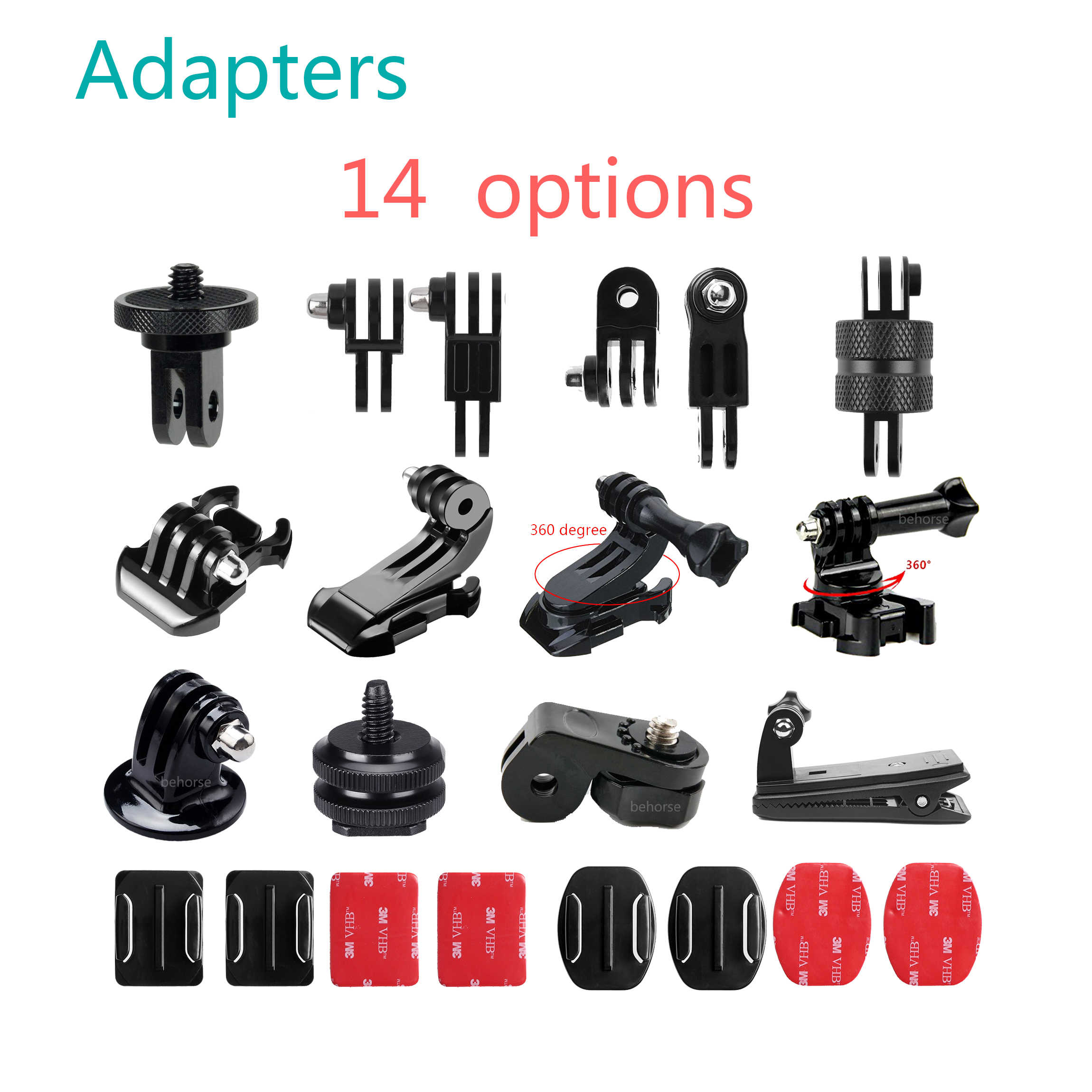 Camera Accessoires Mini Monopod Tripod Holder Case Mount Adapter voor Go Pro Hero 5 4 3 + SJ4000 Xiaomi Yi camera Adapter Schroeven