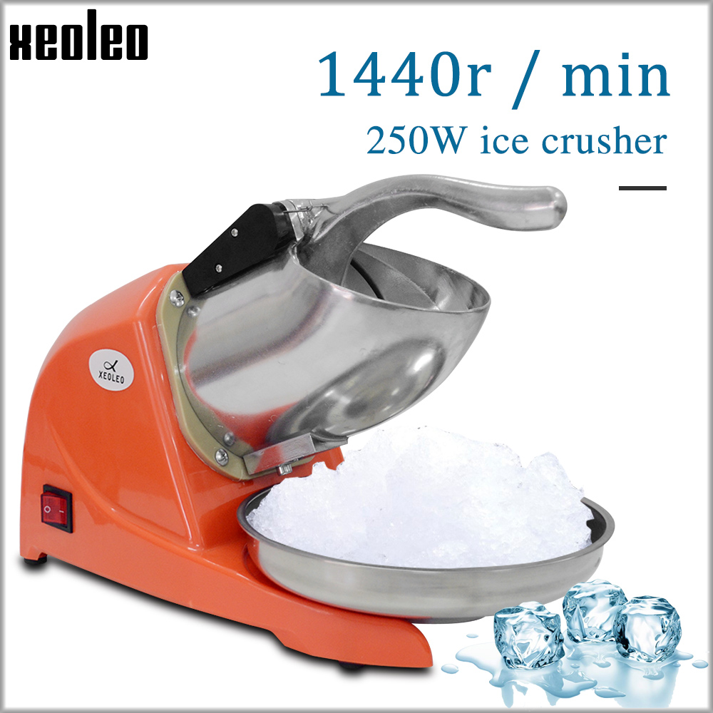 XEOLEO Ice Crusher Multifunctional Electric Automatic Ice Crusher Snow Cone Maker, Shaved Ice Machine 1440r/min 250W  110V/220V