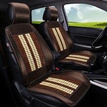 SJ – housses universelles de siège avant de voiture, en bambou, pour Alfa Romeo Stelvio Giulia Dodge JUCV Fait Bravo freemont, toutes les années