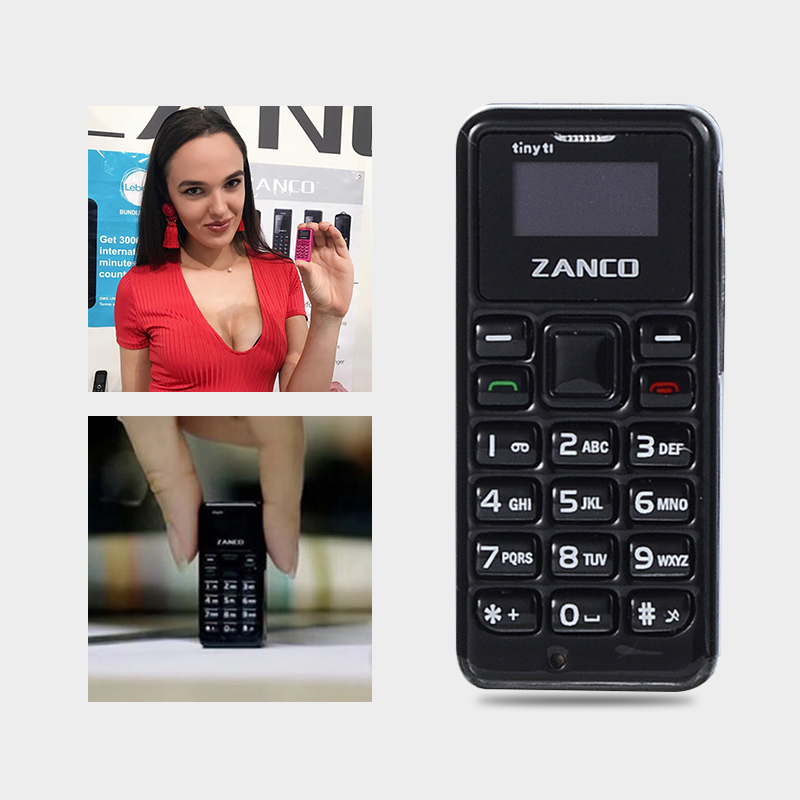 ZANCO Tiny T1 World Smallest Phone 2G Support Multi-Languauge Give Away Protector 600 MAh Long Standby Multi-Lingual