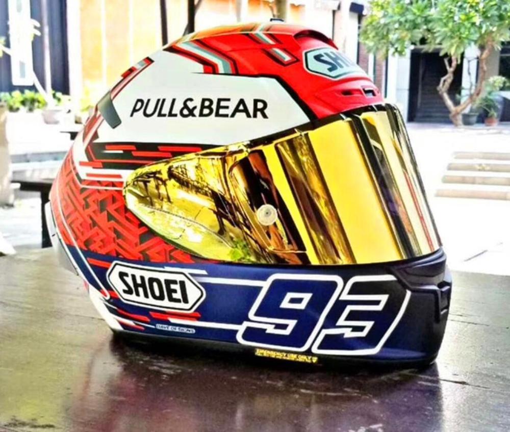 Nouveau sho e i93 tirer ours moteur course moto chapeau casque intégral sûr course été helmt X12 X14 93 modèle casque