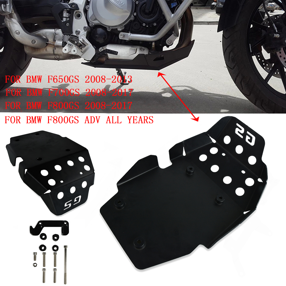 Motorcycle Black Skid Plate Engine Protector Bash Guard Set For BMW F650GS 2008-2013 F700GS 2008-2017 F800GS 2008-17 F800GS ADV