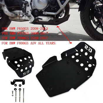 Motorcycle Black Skid Plate Engine Protector Bash Guard Set For BMW F650GS 2008-2013 F700GS 2008-2017 F800GS 2008-17 F800GS ADV free shipping ed skid plate guard fit for yamaha xg250 tricker xt250x serow250