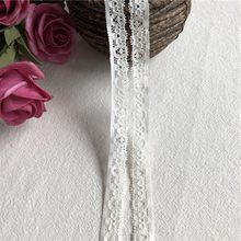 S1290lace – garniture en coton blanc noir 1cm, vêtements de bricolage, couture, tissu, matériel, pompon, boule, frange, ruban, accessoires
