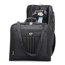 Oeak мужская деловая дорожная сумка, водонепроницаемая багажная сумка, сумка для ноутбука, Пыленепроницаемая сумка для хранения костюма с сумкой для обуви