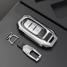 1Pcs Zinc Alloy Car Remote Smart Key Case Cover Holder Shell Keyless Fob Key Chain For Audi A3 A4 A5 A6 A7 A8 Car Accessories