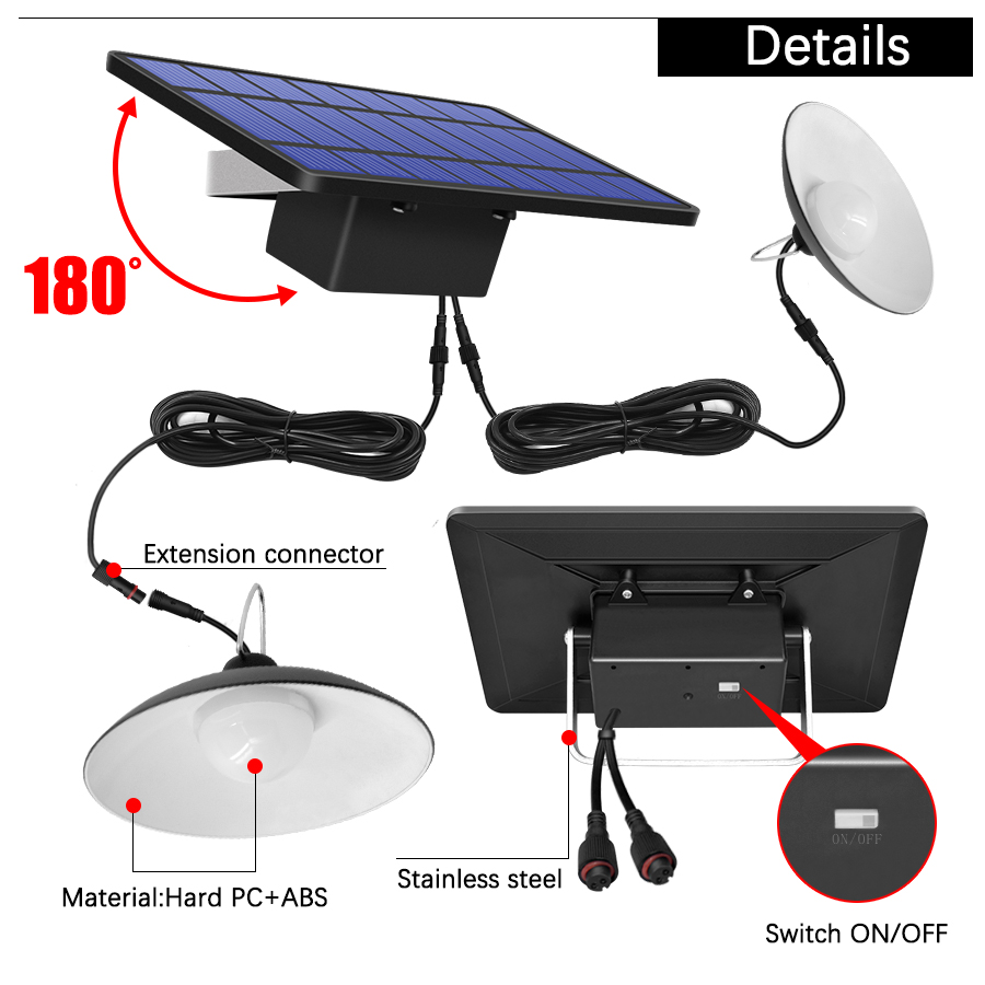Single and Double Head Solar Pendant Light for Outdoor and Indoor With White and Warm White Lighting 10