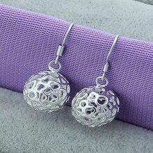 Fashion Design Female Earring 925 Silver Modern Beautiful Hollow Ball Love Heart Star Geometric Drop For Women/Girl