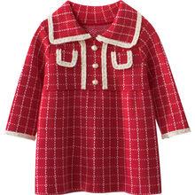 Платья для девочек осень зима 2020 новая детская одежда с длинными
