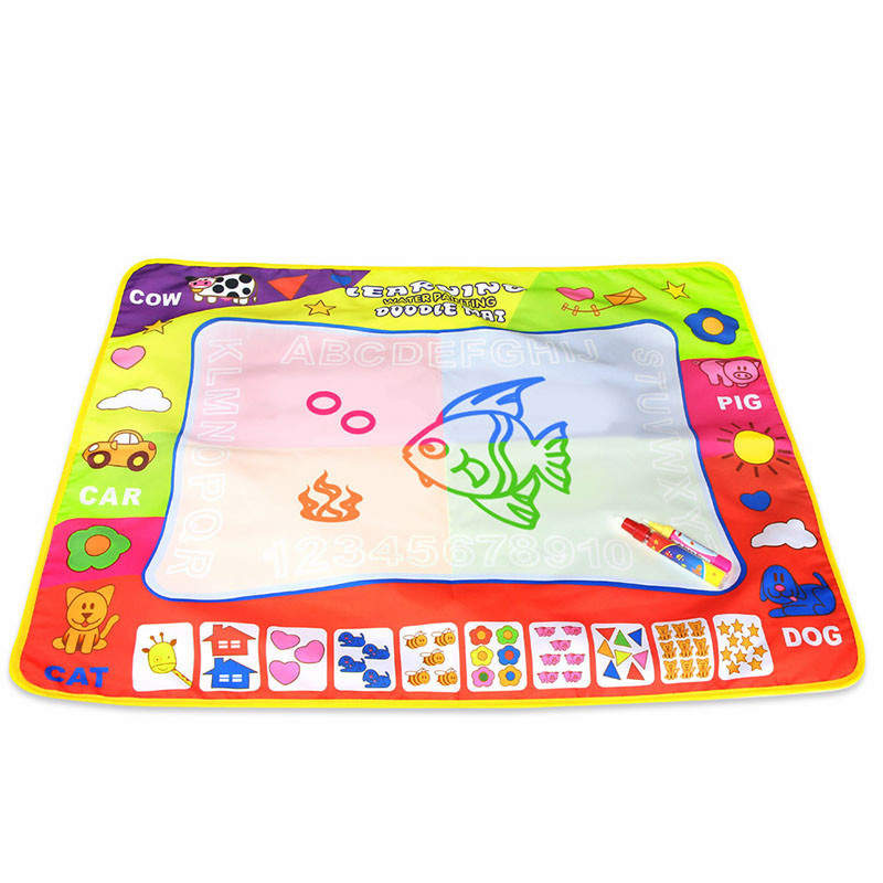 Children Water Canvas Large Size Magic Four Colors Water Canvas 80*60 Doing Homework Blanket Graffiti Blanket Baby Toy