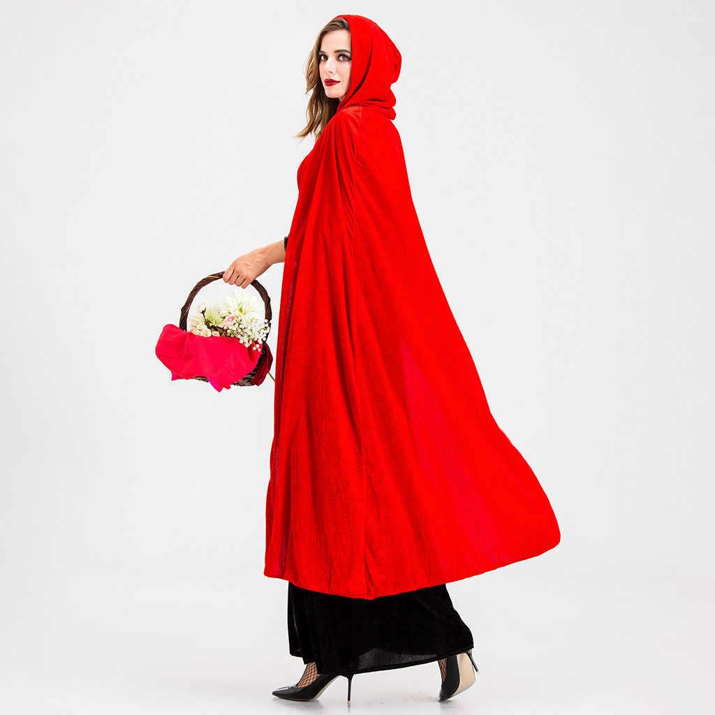 נשים שמלת ליל כל הקדושים בציר קוספליי נקבה ערפד מכשפה תלבושות ארוך שמלה עם גלימה 2019 בימי הביניים מסיבת שמלת Vestido