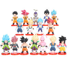 16 pçs/lote Figuras De Dragon Ball Z Super Saiyan Goku Vegeta Trunks Gohan Goten dragon ball Anime DBZ Freeza Brinquedos Modelo(China)