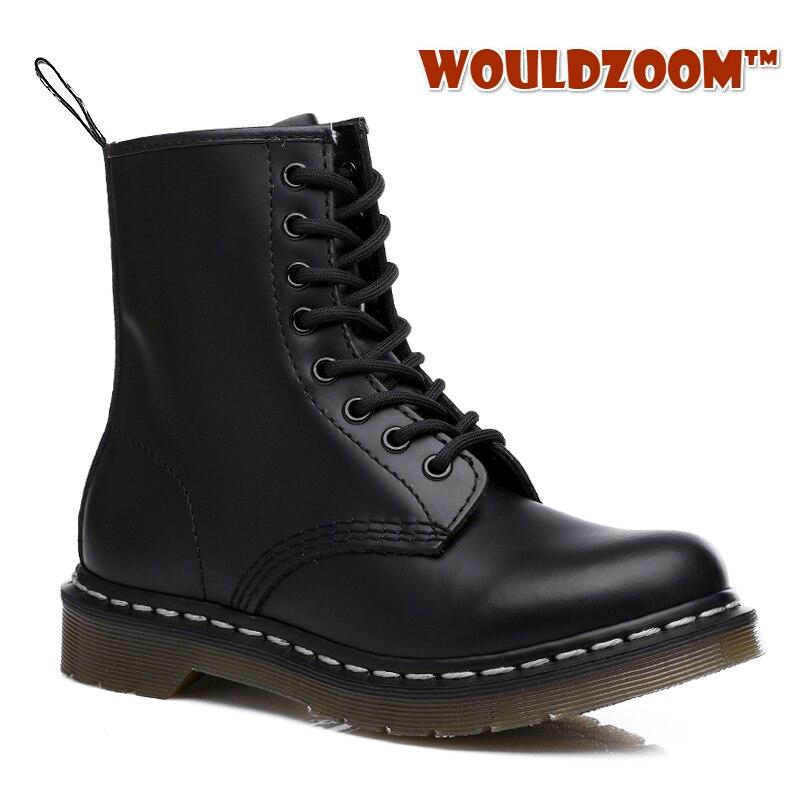 Зимние Ботинки Martin Doc Motocyle; Кожаные Теплые ботильоны на меху; Мужские и женские высокие водонепроницаемые ботинки черного цвета; Обувь большого размера; 2020|Мотоциклетные ботинки|   | АлиЭкспресс