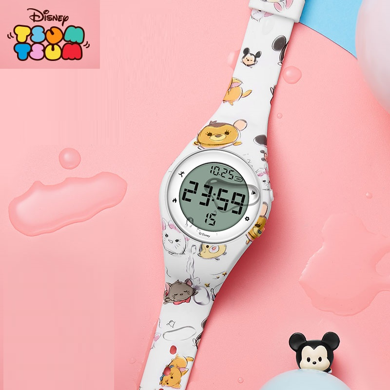 Disney Official Kid Boy Girl Sport Casual LED Digital Clock Army Military Silicone Wrist Watch Hodinky Ceasuri Relogio Masculino