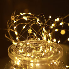LED String light Silver Wire Fairy Garland Home Christmas Tree Wedding Curtain Party Decoration Holiday lighting