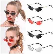 Fashion Sunglasses Frameless Uv400-Eyewear Retro Women's New Summer Small Punk Personality
