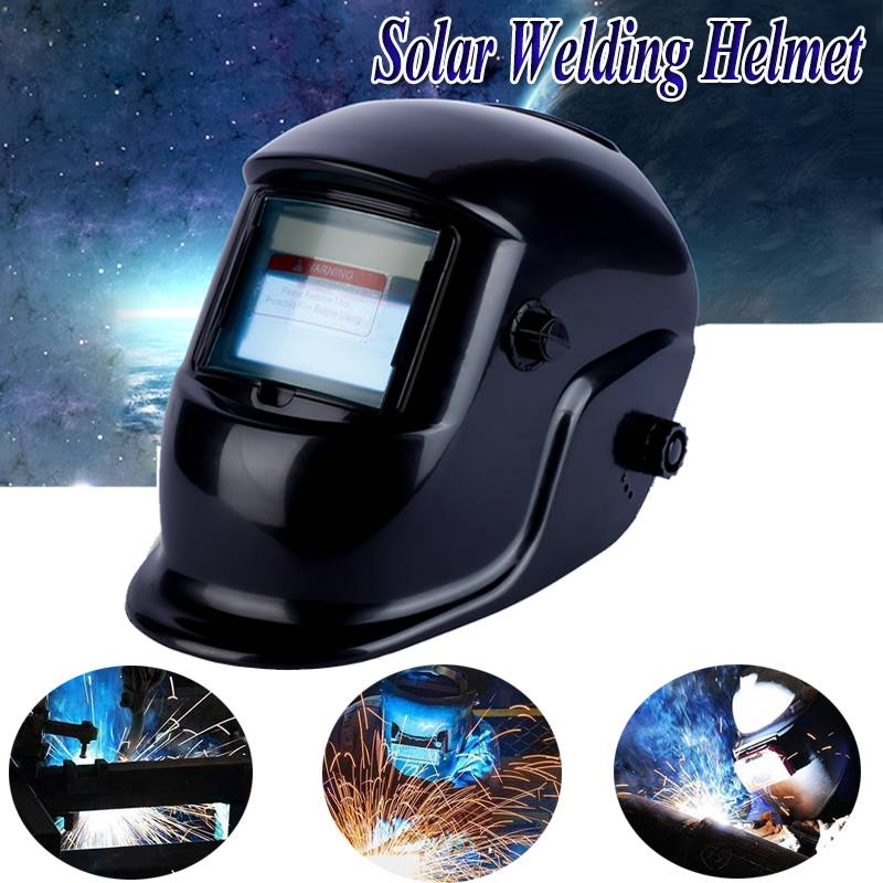 Big View Solar Auto Darkening Adjustable Shade Range 4/9-13 MIG ARC Electric Welding Mask Helmets Cap Welder Protective Gear