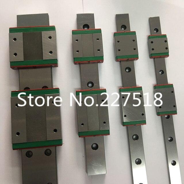 선형 가이드 2 개 mgw12-670mm 소형 선형 레일 슬라이드 + 3d 프린터 용 mgw12h inear 가이드 mgn 캐리지 4 개