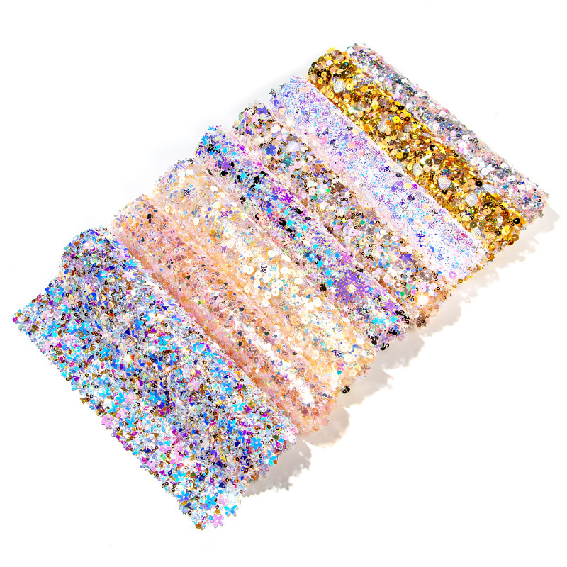 New 8Colors Diamond Nail Table Mat Shining Mix Sequins Colorful Hand Rests Pillow Practice Pad Nail Art Manicure Table Map Tools
