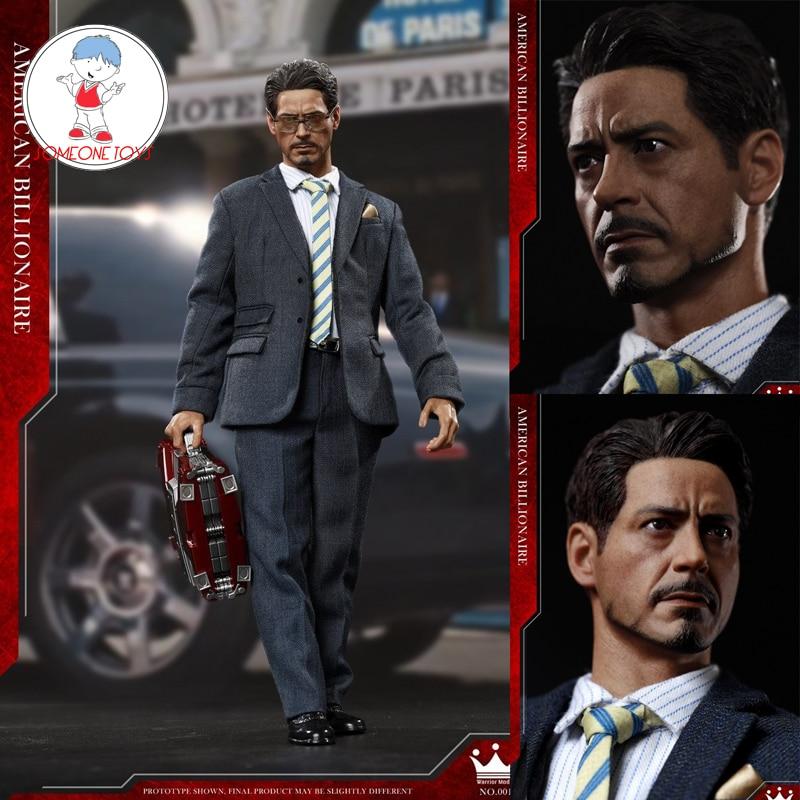 Oyuncaklar ve Hobi Ürünleri'ten Aksiyon ve Oyuncak Figürleri'de 1/6 Ölçekli Tony Stark Tüm Set Aksiyon Figürü Amerikan Milyarder NO. SN001Figurine Model Oyuncak Koleksiyonları'da  Grup 1