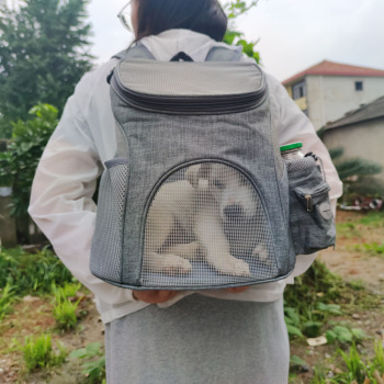 Portable mesh Dog/Cat Bag Breathable Dog Backpack Large Capacity Cat Carrying Bag Portable Outdoor Travel Pet Carrier 2