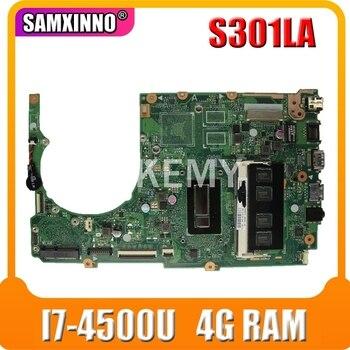 S301LA материнская плата для ноутбука ASUS S301LA S301L S301 Q301LA Q301L тест оригинальная материнская плата 4G RAM I7 4500U