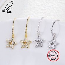 Star Drop Earrings 925 Sterling Silver Inlay Zircon 2 Color Dangle Oorbellen Korean Summer Aretes De Mujer Moda 2019 Sieraden наушники hifiman edition x