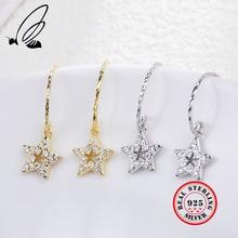 Star Drop Earrings 925 Sterling Silver Inlay Zircon 2 Color Dangle Oorbellen Korean Summer Aretes De Mujer Moda 2019 Sieraden подвеска декоративная волшебная рыбка 12 см