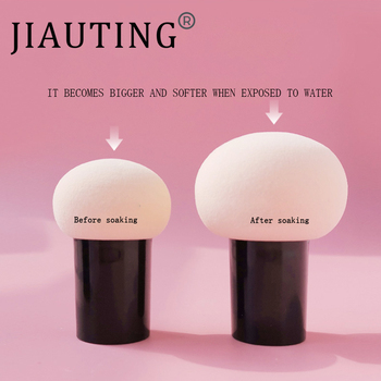 JIAUTING Makeup Sponge Cosmetic Puff with Handle Puff For Foundation Concealer Cream Powder Puff Smooth Women's Makeup 1Pc 2
