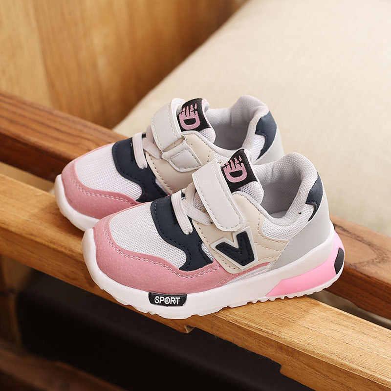 Kids Girls Pink Shoes Children Girls Athletic Sneaker Running Sport Shoes US10-4